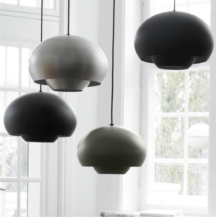 W stylu marinistycznym lampy czarne sypialnia na wymiar