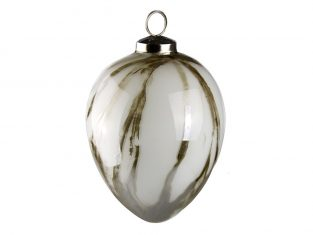 Jajo Marble White Egg 6x10cm