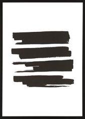 Obraz reprodukcja Black Ink Stripes 50x70cm