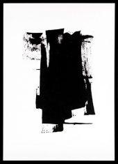 Obraz reprodukcja Black Ink Abstract 50x70cm