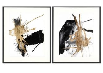 Obraz reprodukcja Glam & Black V & VI J. Goldberger 37x57cm