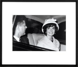 Fotografia- The Kennedy`s Leaving Paris 75x65cm