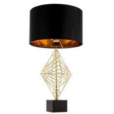 Lampa stołowa Caracas Gold Black 38x70cm Cosmo Light