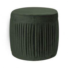 Puf Shia Velvet Emerald Green 40x40cm