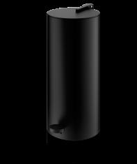 Kosz łazienkowy na śmieci czarny Decor Walther Cylo Black Matt 14,5×33,5cm