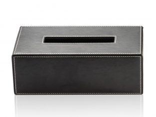 Pudełko na chusteczki Brownie Black 24x12x8cm Decor Walther