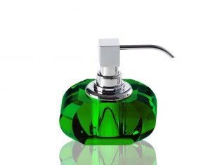 Dozownik na mydło Kristall Green/Chrome Decor Walther 13x9x12cm