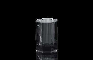 Kubek łazienkowy antracytowy Kristall Anthracite Decor Walther 7x10cm