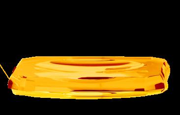 Tacka łazienkowa Kristall Amber Decor Walther 23x13x2,5cm