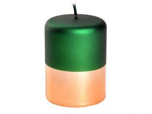 Świeca dekoracyjna Bonbon Emerald Green 7,5x10cm