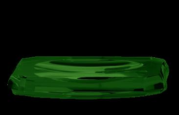 Tacka łazienkowa Kristall Green Decor Walther 23x13x2,5cm