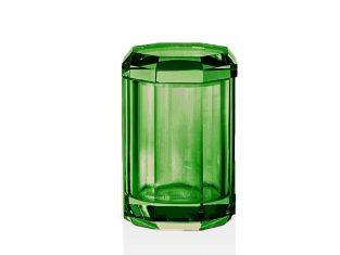 Pojemnik łazienkowy Kristall Green Decor Walther 9x14cm
