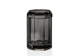 Pojemnik łazienkowy antracytowy Kristall Anthracite Decor Walther 9x14cm