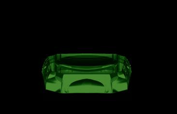 Mydelniczka kryształowa Kristall Green Decor Walther 12x12x2,5cm