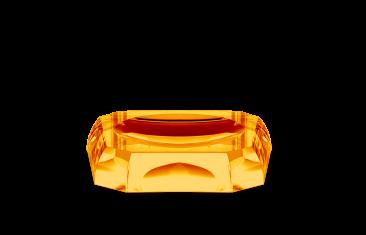 Mydelniczka kryształowa Kristall Amber Decor Walther 12x12x2,5cm