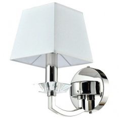 Kinkiet Dubai Crystal Silver/White 1L 15x26cm Cosmo Light