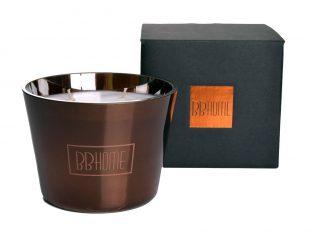 Świeca zapachowa BBHome Baies de Mousons Copper 9,5x13cm
