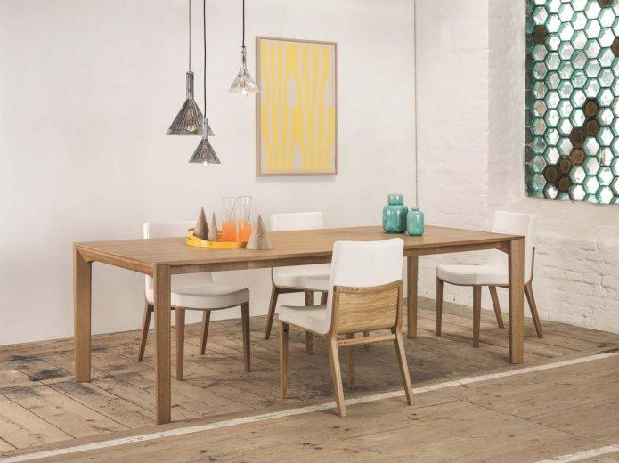 Modne tapicerowane krzesła z drewna kuchni na wymiar