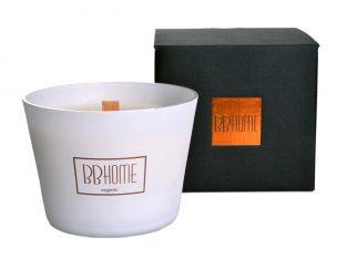 Świeca zapachowa BBHome Simply White Copper 9,5x13cm
