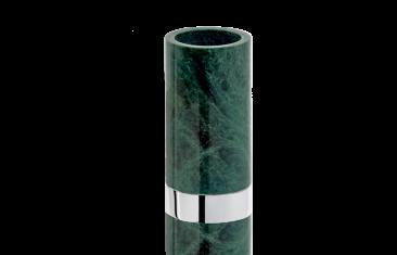 Kubek łazienkowy marmurowy Decor Walther Century Chrome Marble Green 6×12,5cm
