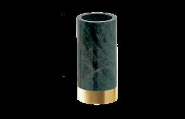 Kubek łazienkowy marmurowy Decor Walther Century Gold Matt Marble Green 6×12,5