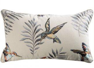 Poduszka dekoracyjna haftowana Montserrat Henna 50x30cm