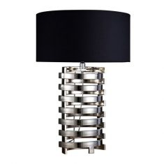 Lampa stołowa Terme Silver/Black 50x50x73,5cm