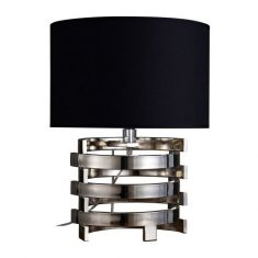Lampa stołowa Terme Silver/Black 35x35x46,5cm