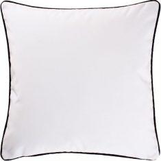 Poduszka welwetowa Glam Velvet White/Black 45x45cm