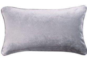 Poduszka podłużna welwetowa szara Scene Ash Grey 50x30cm