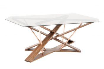 Stół szklany Elisabeth Walnut Ziemann 210x120x75cm