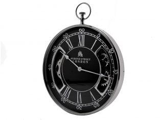 Zegar ścienny BBHome Roman Silver Black 51cm