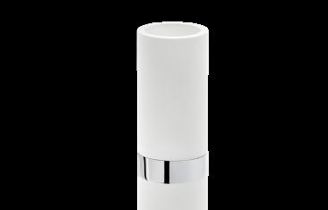 Kubek łazienkowy biały chrom Decor Walther Century Chrome White 6×12,5cm