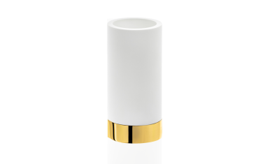 Kubek łazienkowy biały złoty Decor Walther Century Gold White 6×12,5cm