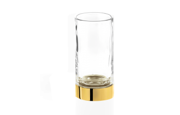 Kubek łazienkowy Century Gold Crystal Cl. Decor Walther 6×12,5cm