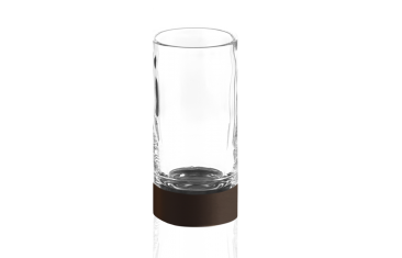 Kryształowy kubek łazienkowy brązowy Decor Walther Century Bronze Crystal Cl. 6×12,5cm