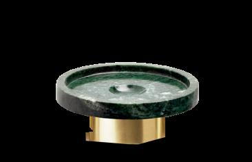 Okrągła mydelniczka marmurowa złota matowa Decor Walther Century Gold Matt Marble Green 11x4cm