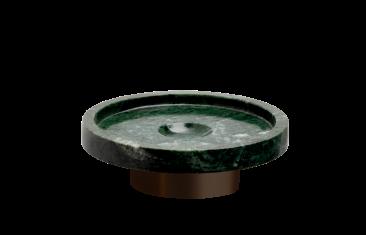 Okrągła mydelniczka marmurowa brąz Decor Walther Century Bronze Marble Green 11x4cm