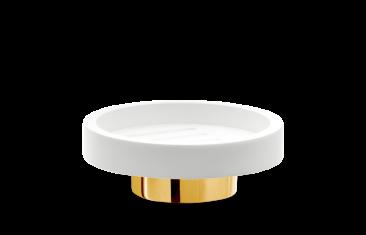 Mydelniczka okrągła biała złota Decor Walther Century Gold White 11x4cm
