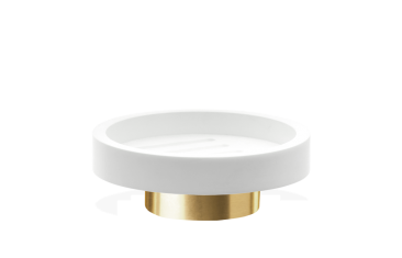 Mydelniczka okrągła biała/ złoty matowy Decor Walther Century Gold Matt White 11x4cm