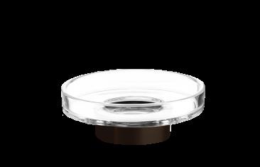 Kryształowa mydelniczka brąz Decor Walther Century Bronze Crystal Cl. 11x4cm
