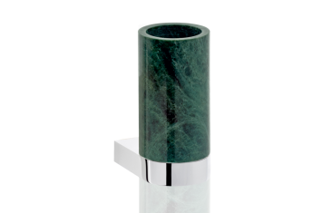 Kubek łazienkowy ścienny marmur/chrom Century Wall Chrome Marble Green 6x9x12,5cm