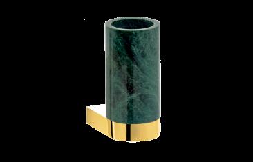 Kubek łazienkowy ścienny marmur/złoty Decor Walther Century Wall Gold Marble Green 6x9x12,5cm