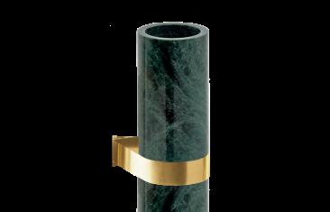 Kubek łazienkowy ścienny marmur/złoty matt Decor Walther Century Wall Gold Matt Marble Green 6×9,12,5cm