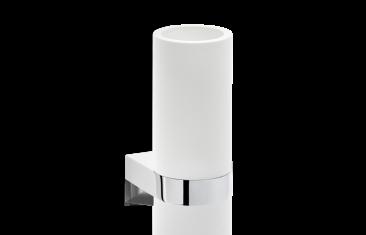 Kubek łazienkowy ścienny biały/chrom Decor Walther Century Wall Chrome White 6x9x12,5cm