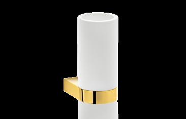 Kubek łazienkowy ścienny biały/złoty Decor Walther Century Wall Gold White 6x9x12,5cm