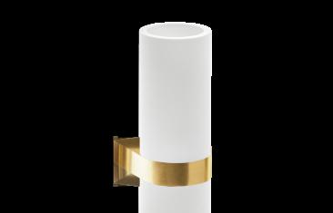 Kubek łazienkowy ścienny biały/złoty matt Decor Walther Century Wall Gold Matt White 6x9x12,5cm