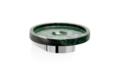 Okrągła mydelniczka marmurowa ścienna Decor Walther Century Wall Chrome Marble Green 11x4cm