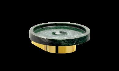 Okrągła mydelniczka marmurowa ścienna złota Decor Walther Century Wall Gold Marble Green 11x4cm