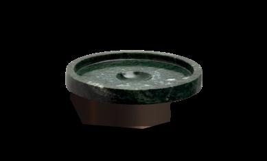 Okrągła mydelniczka marmurowa ścienna brąz Decor Walther Century Wall Bronze Marble Green 11x4cm